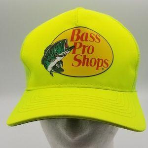 Bass Pro Shops Hyper neon Yellow Snapback Hat